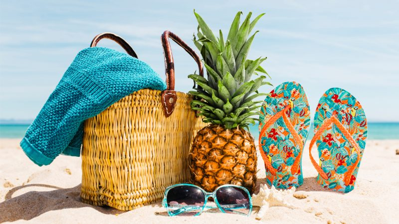 Travel the beach with foods