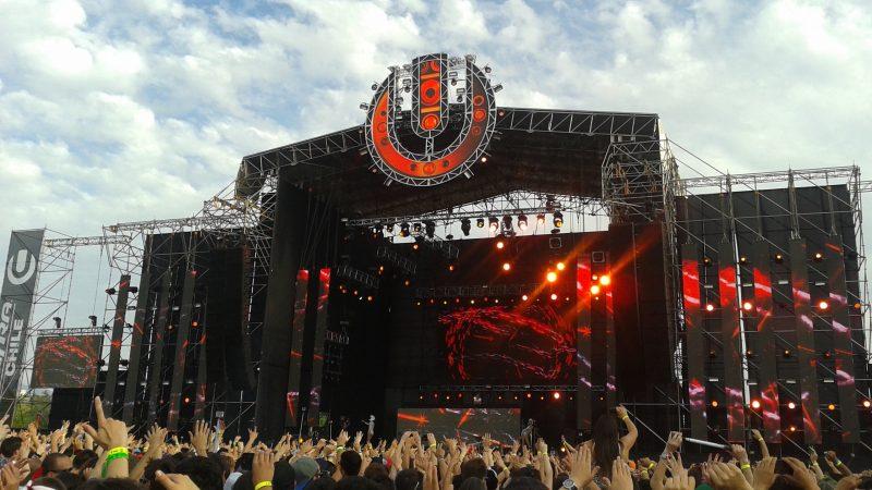 DJ rocking on the concert