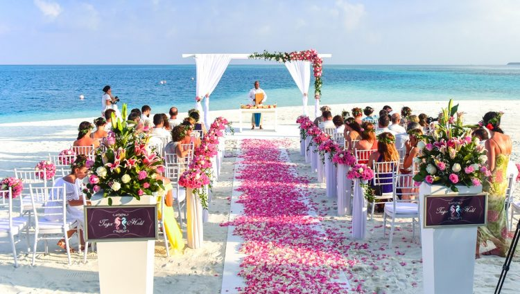 Attending weeding at beach was something new